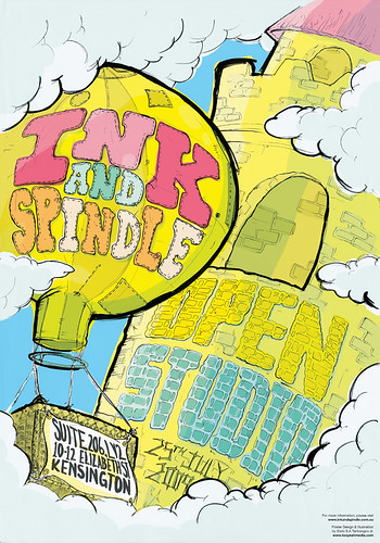 Ink & Spindle open studio poster