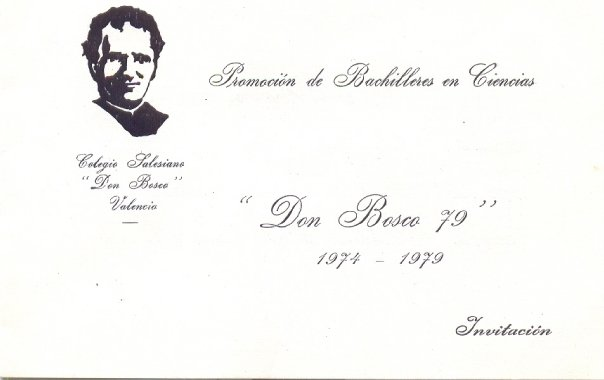 Invitación Don Bosco 1979