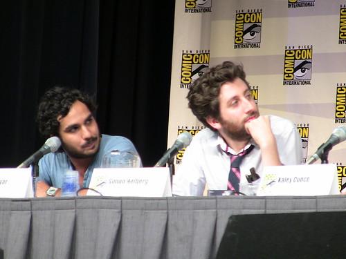 Nayyar y Melberg durante la rueda de prensa. Una foto de watchwithkristin