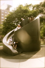Slide sculpture