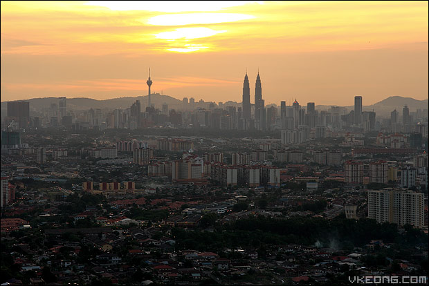 kl-city-sunset