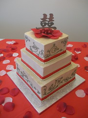 Jenn and Victor (Josef's Vienna Bakery) Tags: vienna wedding food cake dessert marisa sweet weddingcake nevada tahoe tasty bakery caketopper reno bridal sparks edible hess fondant doublehappiness josefs weddingstar
