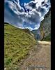 Werdenfelser Canyon (mcPhotoArts™) Tags: summer sky mountain mountains rock germany way bayern deutschland bavaria rocks sommer meadow wiese himmel canyon berge fels hdr garmischpartenkirchen hdri weg schlucht felsen gebirge geotagging photomatix canoneos400d osterfelder sigma1770mm2845dcmacro ©bumblebeephotografix ffgapashow