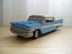 57 Chrysler New Yorker (2) (Mad physicist) Tags: car lego newyorker chrysler 57 lugnuts 122 virgilexner