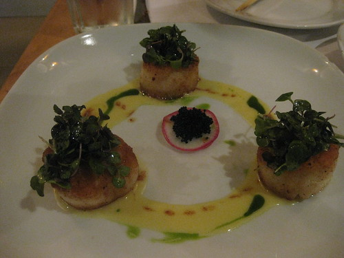 House Restaurant in San Francisco - Scallops in lemon ponzu sauce