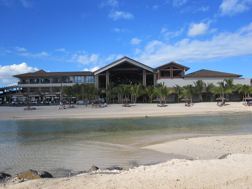 Main building from beach.