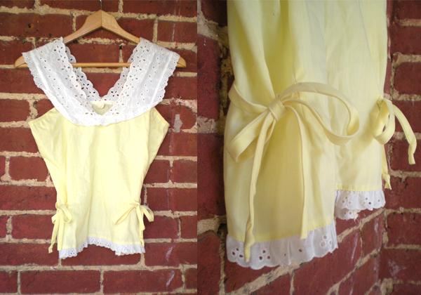 Ebay 70's Eyelet Cotton Camisole