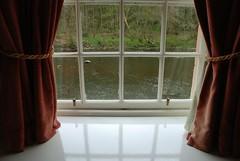DSC_8798 [psp] - Undershot Window (Anyhoo) Tags: uk texture window water rock stone river scotland riverclyde clyde surface shore curtains translucent ripples murky windowframe newlanark lanarkshire lanark waterhouses anyhoo photobyanyhoo