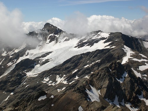 Blick auf den Gletscher der Hinteren Eggenspitze