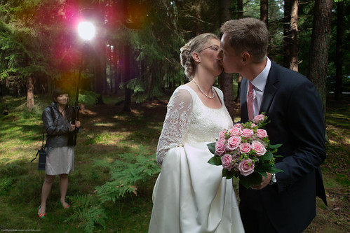 Wedding shot, DP1 + Quadra in action