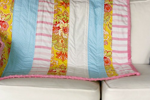 for huff's baby girl. vintage sheets + HB fabric