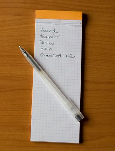 La lista della spesa
