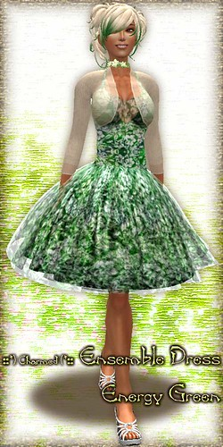 Hibiscus Ensemble Dress (EnGreen)