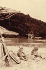 SPFS0079 (pcopros) Tags: park county lake beach stone sepia kids 1936 vintage virginia state anniversary patrick conservation stuart fairy recreation period