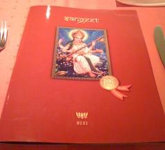 Speisekarte Sangeet