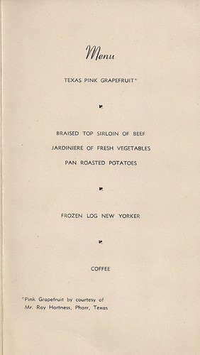 02/18/47 United Fresh Fruit & Vegetable Assn. Luncheon Brochure (Menu)