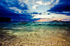 waialea (SARA LEE) Tags: ocean pink blue sunset green texture beach yellow clouds hawaii sand tide clarity clear bigisland colourful waikoloa beach69 waialea sarahlee vivantvie