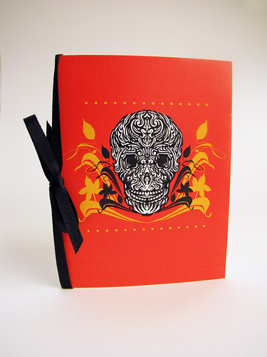 Orange Muertos Skull Card