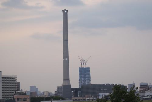 建設中のスカイタワー
