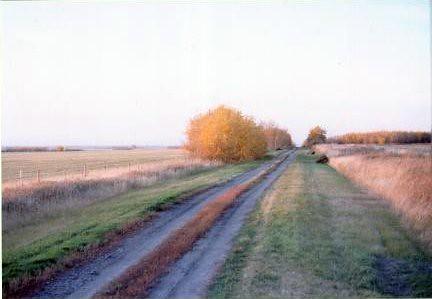 down a prarie road
