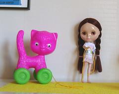 Bianca and wheel kitty