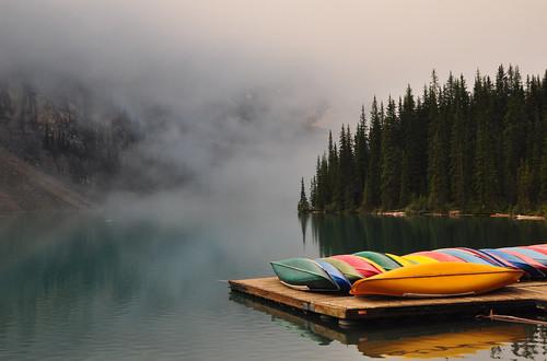 Canoe Dock at Moraine Lake