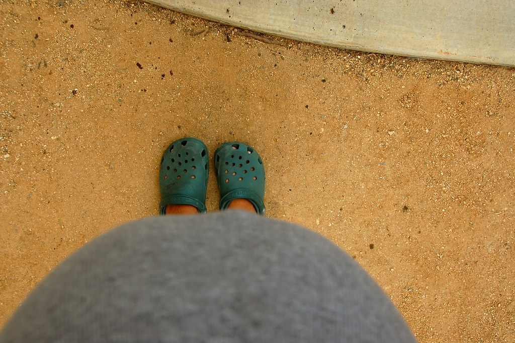 hi baby and gardening shoes