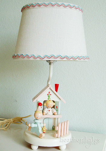 vintage children's lamp