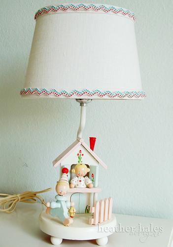 vintage children's lamp