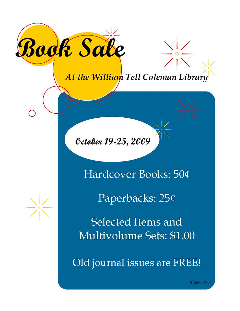 Book Sale flyer 2009 blue