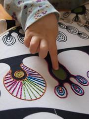 tracing (joontoons) Tags: handmade sewing needlepoint handstitched emroidery ikeafabric joontoons