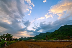Countryside (saebaryo) Tags: sky mountains field clouds countryside nikon taiwan nikkor 美濃 meinung d700 nikond700 1424mm nikkor1424mmf28g