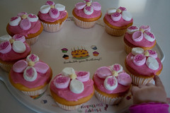 I'll have that one! (__Hells_Bells__) Tags: birthday pink flowers white cakes cupcakes petals yum sprinkles marshmallows icing
