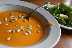 butternut squash soup & harvest salad - 10/21/09