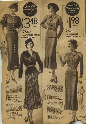 Sears Catalogue 1935 Women S Skirts Blouses Suits Dresses A