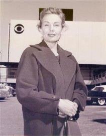 Frances at Television City c. 1958