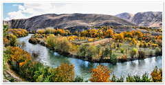 Wide Autumn (II) (1Ehsan) Tags: autumn panorama orange fall yellow iran esfahan isfahan zayanderood zayandehrood