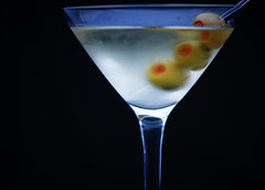 """A martini. Shaken, not stirred."" (MissMae) Tags: glass movie drink quote martini tasty dry alcohol olives gin frosted week46 goldfinger vermouth shaken stirred 5212of2009 inspiredbyyourfavouritemoviequote savagephotography"