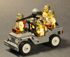Willys jeep with figs (The Ranger of Awesomeness) Tags: lego wwii brickarms