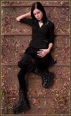 DSC02008-Edit (Phillostar Gone Ballistic Photography) Tags: bridge boy black tree girl leather boot leaf model gm shoot autum minolta sony gothic bone 20mm alpha f28 a300 maraa romeyn phillostar 20091031maraabonegaasperplas