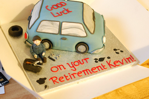 Mechanic retirement cake