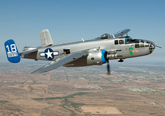 north american b-25j mitchell (MatthewPHX) Tags: arizona field airplane nikon force aviation air north wing american shade falcon mitchell maid caf mesa ffz commemorative b25 northamerican d90 falconfield commemorativeairforce kffz maidintheshade arizonawing