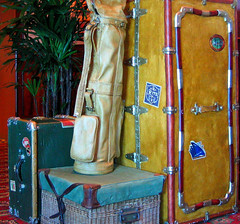 All My Bags Are Packed.  I'm Ready to Go ! (Sandra Leidholdt) Tags: old travel cruise antique cruising luggage explore nostalgia nostalgic bags trunks baggage qm2 queenmary2 cunard atsea cases suitcases cruiseships golfbag explored sandraleidholdt leidholdt sandyleidholdt