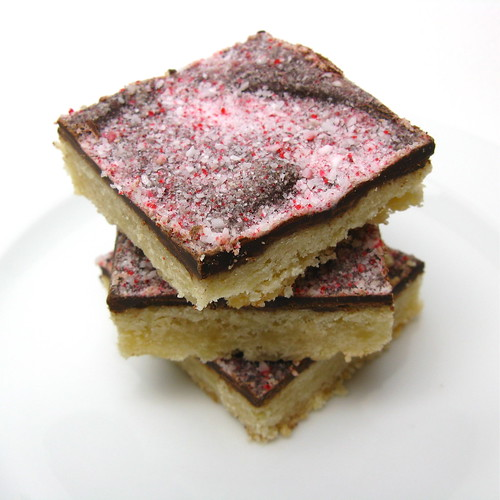 Chocolate & Peppermint Covered Shortbread