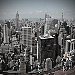 Top View (Village9991) Tags: nyc panorama usa newyork building view top empirestate skycrapers topoftherock skycraper rockfeller turist abigfave