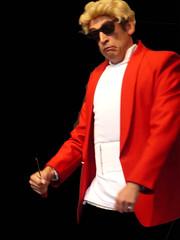 Haino (Marco Braun) Tags: red white man black men rot rouge comedy fiesta negro mann fte blanche rosso weiss bianco 2009 schwarz karikatur homme koblenz mensch noire heino haino gauklerfest coblence