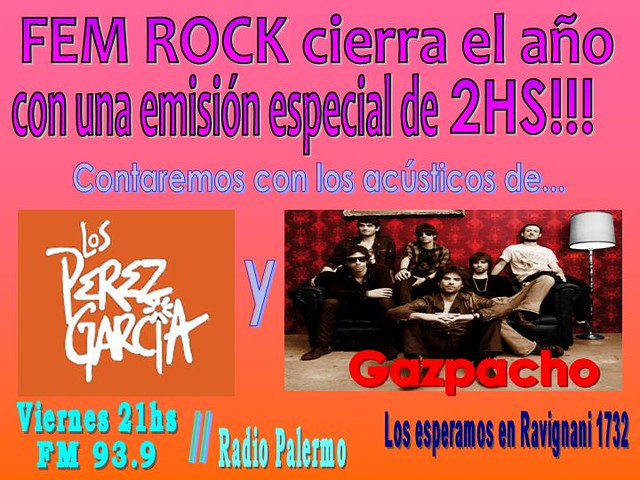 Programa Viernes 18 de Diciembre by FEM RocK