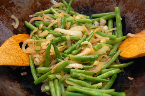 Onions and Green Beans