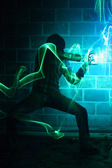 Hadouken! (Dennis Calvert) Tags: longexposure light lightpainting motion green art night canon lights fight streak ninja alabama mystical plasma lighttrails lightning nophotoshop streetfighter xsi lapp explored sooc 450d lightjunkie denniscalvert photonmancer