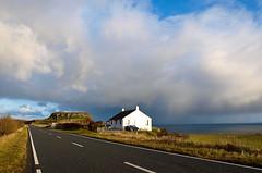 Alone (MipHka) Tags: ocean road uk blue autumn sea sky mountain color skye nature water clouds private scotland isleofskye highland isle far осень небо вода горы море облака здание океан великобритания краски шотландия даль вершины